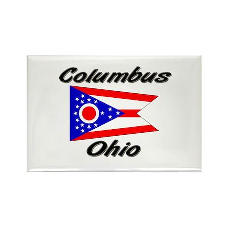 Columbus Ohio Rectangle Magnet