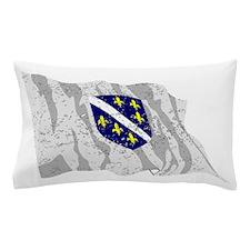 Bosnia Herzegovina Flag (Distressed) Pillow Case