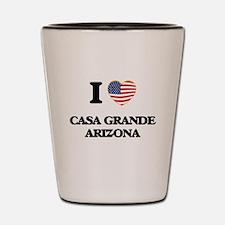 I love Casa Grande Arizona USA Design Shot Glass