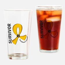 Childhood Cancer Survivor 12 Drinking Glass
