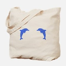 Distressed Blue Dolphins Tote Bag