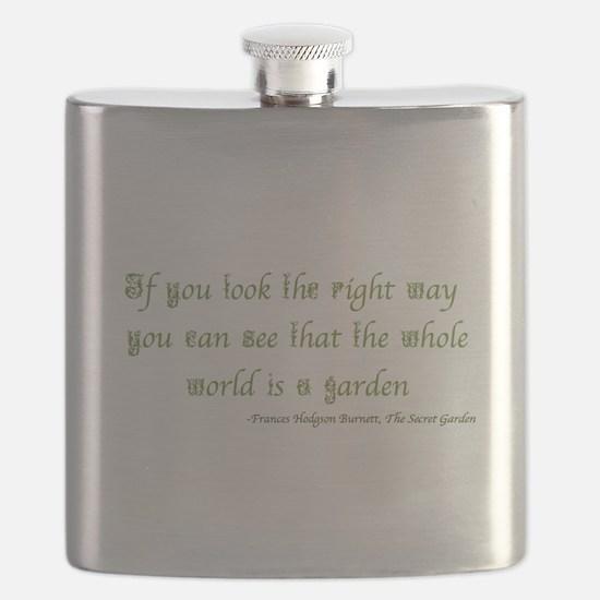 The Secret Garden Quote Flask