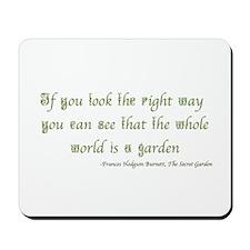 The Secret Garden Quote Mousepad