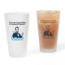 TwHistory Logo and Tagline Drinking Glass