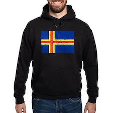 Aland Islands Flag (Distressed) Hoodie
