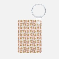 BABY BEAR ON PINK Keychains