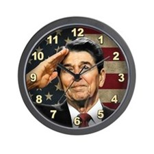 Reagan Salute Wall Clock