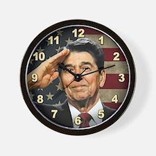 Reagan Salute Wall Clock