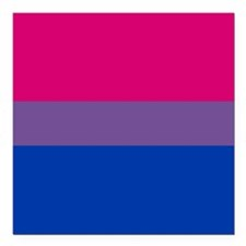 "Bisexual Pride Flag Square Car Magnet 3"" x 3"""