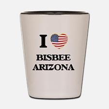I love Bisbee Arizona USA Design Shot Glass
