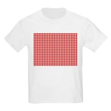 Red Gingham Cloth T-Shirt