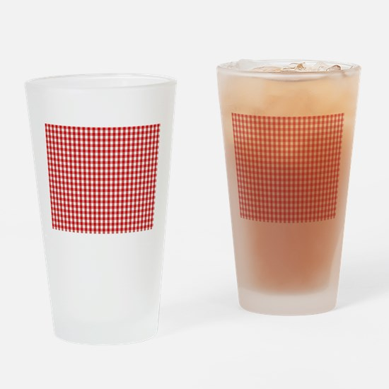 Red Gingham Cloth Drinking Glass