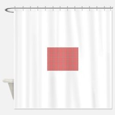 Red Gingham Cloth Shower Curtain