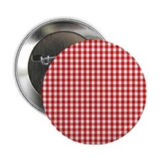 """Red Gingham Cloth 2.25"""" Button"""