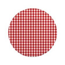 Red Gingham Cloth Button
