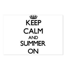 Keep Calm and Summer ON Postcards (Package of 8)