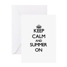 Keep Calm and Summer ON Greeting Cards