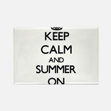 Keep Calm and Summer ON Magnets