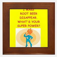 root beer Framed Tile