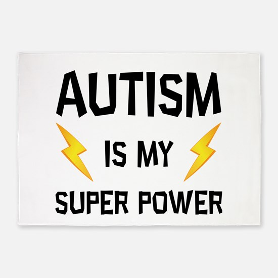 Autism Is My Super Power 5'x7'Area Rug