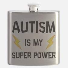 Autism Is My Super Power Flask