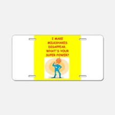 MILKSHAKES Aluminum License Plate
