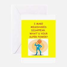 MILKSHAKES Greeting Cards