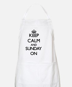 Keep Calm and Sunday ON Apron