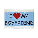 I LOVE MY BOYFRIEND Rectangle Magnet (100 pack)