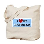 I LOVE MY BOYFRIEND Tote Bag