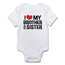 I Love My Brother and Sister Infant Bodysuit