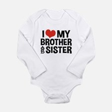 I Love My Brother and Long Sleeve Infant Bodysuit