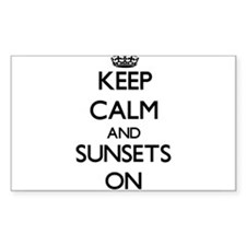 Keep Calm and Sunsets ON Decal