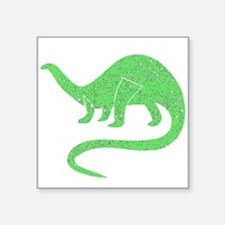 Distressed Green Brontosaurus Sticker