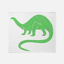 Distressed Green Brontosaurus Throw Blanket