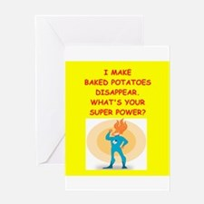 baked potato Greeting Cards