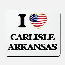 I love Carlisle Arkansas USA Design Mousepad