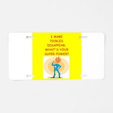 pickles Aluminum License Plate