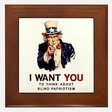 Uncle Sam Blind Patriotism Tile (Framed)