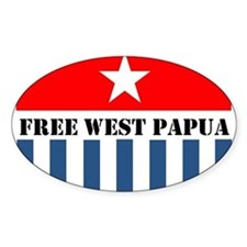 Free West Papua Morning Star Flag Logo Decal