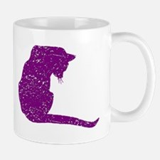Distressed Purple Cat Mugs