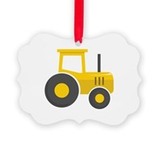 Yellow Tractor Ornament