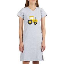 Yellow Tractor Women's Nightshirt