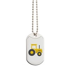 Yellow Tractor Dog Tags