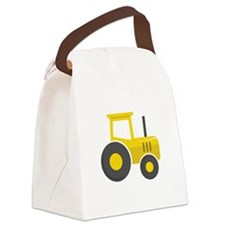 Yellow Tractor Canvas Lunch Bag