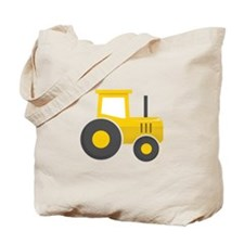 Yellow Tractor Tote Bag
