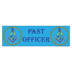 Masonic Past Officer Bumper Bumper Sticker