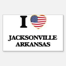 I love Jacksonville Arkansas USA Design Decal