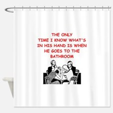 a funny bridge joke Shower Curtain