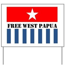 Free West Papua Morning Star Flag Logo Yard Sign